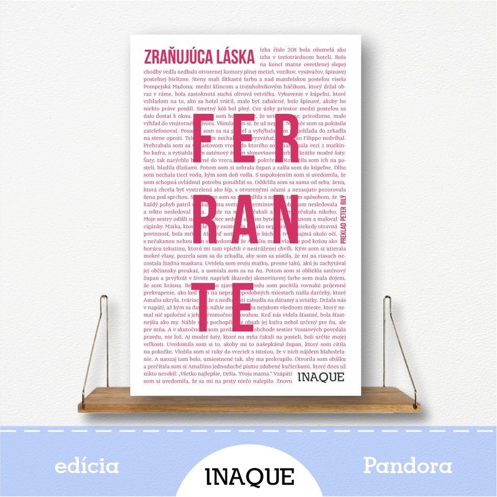 kniha Zraňujúca láska, autorka Elena Ferrante, edícia Pandora